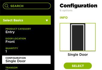 Dealer Door Configurator